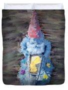 Old Garden Gnome Duvet Cover