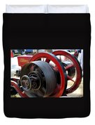 Old Gas Engine With Digital Effects Duvet Cover