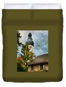 Old German Church Tower Duvet Cover