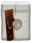 Old Glass Doorknob Duvet Cover