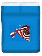 Old Glory Flying Duvet Cover
