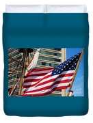 Old Glory In Baltimore Duvet Cover