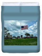 Old Glory Over Baltimore Duvet Cover