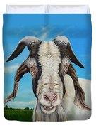 Old Goat - Painting By Cindy Chinn Duvet Cover