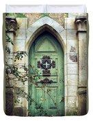 Old Gothic Door Duvet Cover