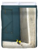 Old Greek Door Duvet Cover