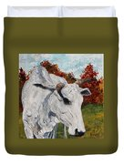 Old Grey Cow Duvet Cover