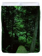 Old Growth Forest At Lost Lake On Mount Hood Duvet Cover