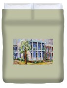 Old Gulf Coast Home Duvet Cover