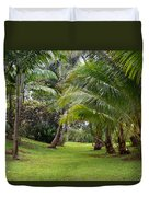 Old Hawaiian Garden Duvet Cover