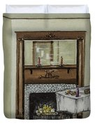 Old Homestead Fireplace  Duvet Cover