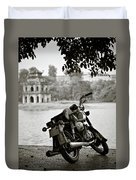 Old Honda In Hanoi Duvet Cover