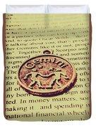 Old Horoscope Of Gemini Duvet Cover