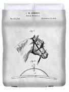Old Horse Blinker Patent Duvet Cover