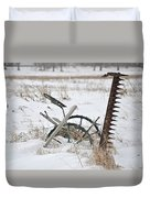 Old Horse Drawn Sickle Mower Duvet Cover