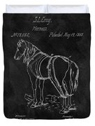 Old Horse Harness Patent  Duvet Cover