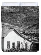 Old House And Foothills Duvet Cover