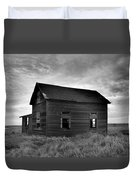 Old House In A Barren Field Duvet Cover
