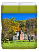 Old House In Cades Cove Tn Duvet Cover