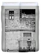 Old House In Taormina Sicily Duvet Cover