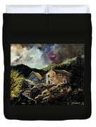 Old Houses 5648 Duvet Cover