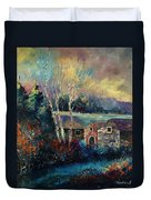Old Houses In Hour Duvet Cover