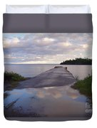 Old Hovland Dock After The Storm Duvet Cover