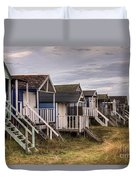 Beach Huts At Old Hunstanton Duvet Cover