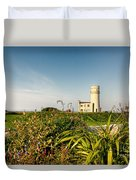 Old Hunstanton Lighthouse North Norfolk Uk Duvet Cover