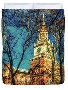 Old Independence Hall Duvet Cover