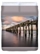 Old Jetty Near Castlerock Duvet Cover
