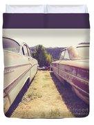 Old Junkyard Cars Chevy And Ford Utah Duvet Cover