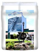 Old Kauai Village Clock Tower Duvet Cover