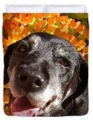 Old Labrador Duvet Cover by Amy Vangsgard