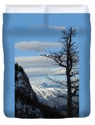 Old Larch Tree Has Best View Duvet Cover