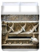 Old Letter Box In Barcelona Duvet Cover
