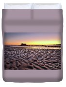 Old Lifesavers Building Covered By Warm Sunset Light Duvet Cover