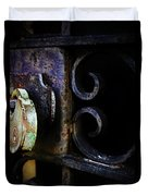 Old Lock On A Cast Iron Gate Duvet Cover