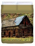 Old Log Cabin-barn Duvet Cover