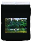 Old Love And Central Park Lake Duvet Cover