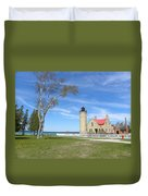 Old Mackinaw Point Light Duvet Cover