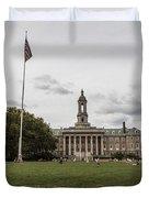 Old Main Penn State Wide Shot  Duvet Cover