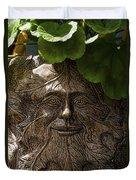 Old Man In The Garden Duvet Cover