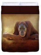 Old Man Orangutan Duvet Cover