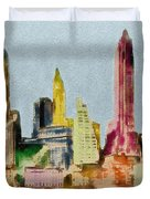 Old Manhattan Duvet Cover