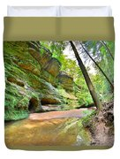 Old Man's Gorge Trail And Caves Hocking Hills Ohio Duvet Cover