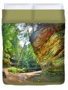Old Man's Gorge Trail Hocking Hills Ohio Duvet Cover