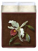 Old Masters Reimagined - Cattleya Orchid Duvet Cover
