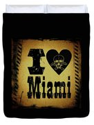 Old Miami Duvet Cover