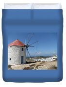Old Mill In Greece Duvet Cover